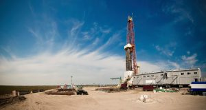 A large panorama of the Drillsite View with a nice clouds